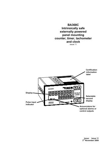 BA368C Intrinsically safe externally powered panel ... - Ex-Baltic