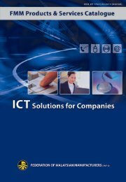 30 ICT Solutions for Companies - Federation of Malaysian ...