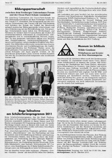 Bildungspartnerschaft - Freiberger Unternehmerforum eV - Verein