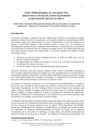2007 Cadre méthodologique Maroc - Agropolis International