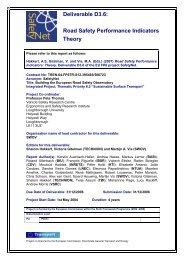 Safety Performance Indicators: Theory - ERSO - Swov