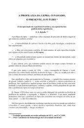 A PROFILAXIA DA LEPRA: O PASSADO, O PRESENTE, O FUTURO *