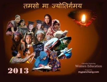 Women's Education 2013 Hindu Calendar - myPanchang.com