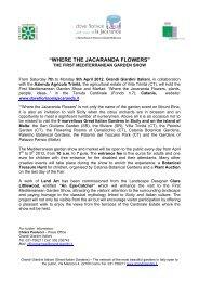 """WHERE THE JACARANDA FLOWERS"" - Grandi Giardini Italiani"