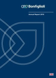 Annual Report 2010 Download pdf - Bonfiglioli