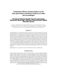 Comparative efficacy of plant products on the spore germination and ...