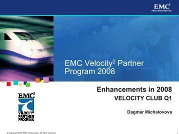 EMC Velocity2 Partner Program 2007 - ASBIS SK Online