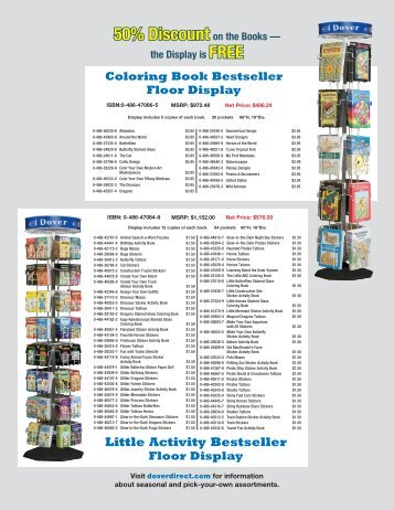50% Discount on the Books - Dover Publications