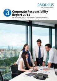 Corporate Responsibility Report 2011 - Investor relations at Amadeus
