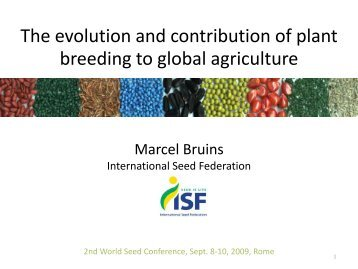 The Seed Industry Today - International Seed Testing Association