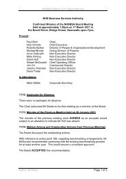 Minutes of the meeting held on 17 March 2011 - NHS Business ...