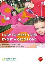 Greening your Event - Mayo County Council