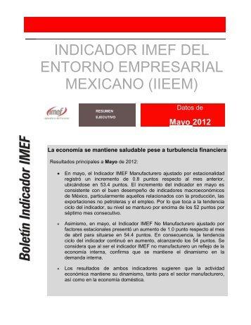 Indicador del Entorno Empresarial Mexicano - IMEF