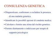 6-Consulenza genetica - Medicina e chirurgia