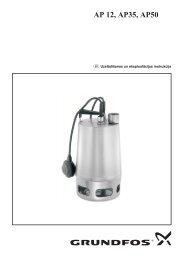 Grundfos sūknis AP 12, AP 35 un AP 50 - instrukcija - Sanistal