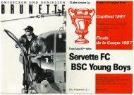 Programm - Vive le Servette FC