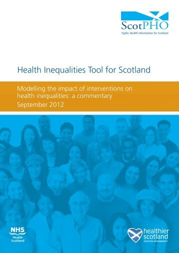 Health Inequalities Tool for Scotland - Scottish Public Health ...