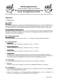 Reglement Mittagstisch/Aufgabenhilfe - Psgarbon.ch