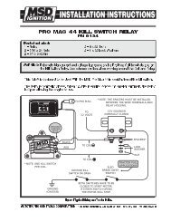 pro mag 44 kill switch relay wiring diagram - msd pro-mag com