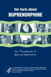 The Facts about Buprenorphine for Treatment of ... - VA Mental Health