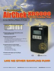 AirChek XR5000 Sample Pump 210-5001 Product ... - Thermo Fisher