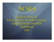 2005 NCSEA Award Winners