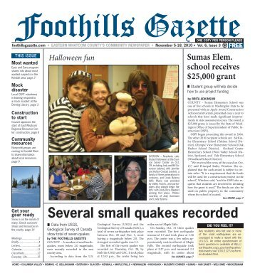 several small quakes recorded - Foothills Gazette