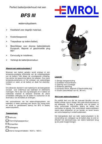 Folder BFS III (Nederlands) - Emrol
