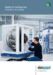 RadiPac EC centrifugal fans Perfection in air handling - ebm-papst AB