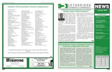 January 2007 - Lethbridge Chamber of Commerce