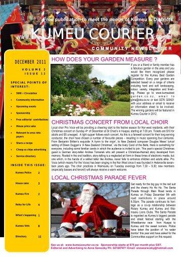 Free publication to meet the needs of Kumeu ... - Kumeu Courier