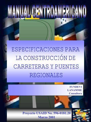 especificaciones para la construcción de carreteras y puentes ...