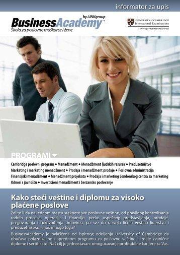 Koje ćete veštine i znanja savladati? - Razvoj karijere