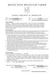 Návrh dodatku č.1 k VZN č. 7-2012 o určení výšky finančných ...