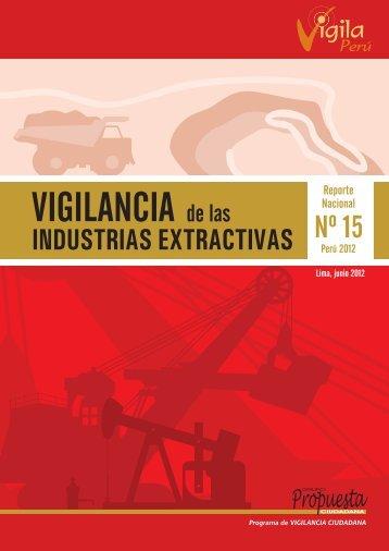 Vigilancia de las Industrias Extractivas. Reporte Nacional Nº - Grupo ...