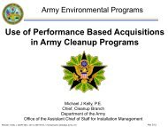 Use of Performance Based Acquisitions in Army Cleanup ... - E2S2