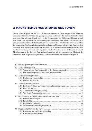3 magnetismus von atomen und ionen - Walther Meißner Institut