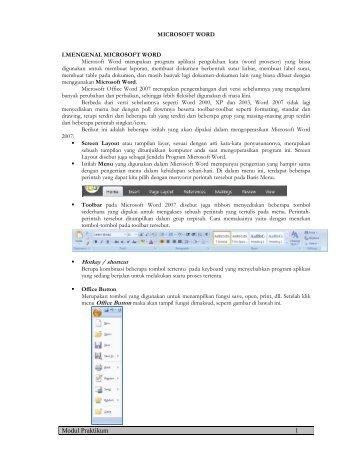 Modul Praktikum 1 Hotkey / shortcut - Kuliah FKIP UMM