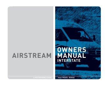 airstream safari bambi trailer owners manual 2003 warning rh yumpu com Airstream Nest Interior 1962 airstream bambi owners manual