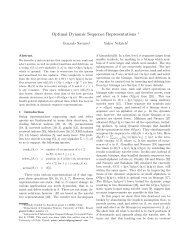 Optimal Dynamic Sequence Representations
