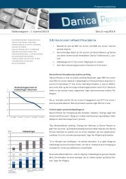 Hent hele pressemeddelelsen her (pdf) - Danica Pension