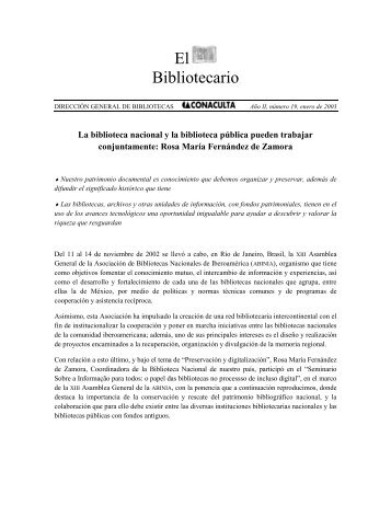 ene - Dirección General de Bibliotecas - Consejo Nacional para la ...