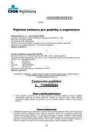 Smlouva č. 7108000694 s ČSOB Pojišťovnou, a.s. - LAA