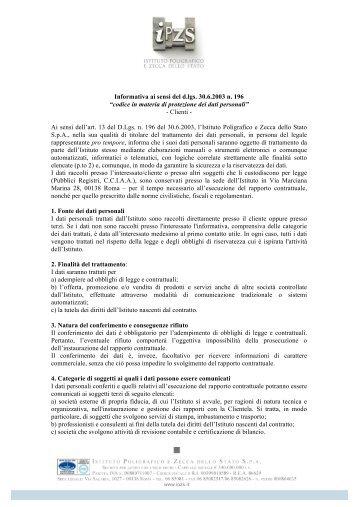 Clienti - Istituto Poligrafico e Zecca dello Stato