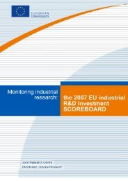 2007 EU INDUSTRIAL R&D INVESTMENT SCOREBOARD - Madri+d