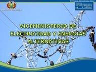 Presentación: Viceministerio de Electricidad y Energías Alternativas