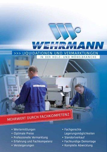 LIQUIDATIONEN UND VERMARKTUNGEN - Wehrmann ...