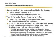 George Herbert Mead: Symbolischer Interaktionismus - Ploecher.de