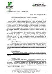 Ofício Circular nº 013/DIASS-2007 - Ipasgo
