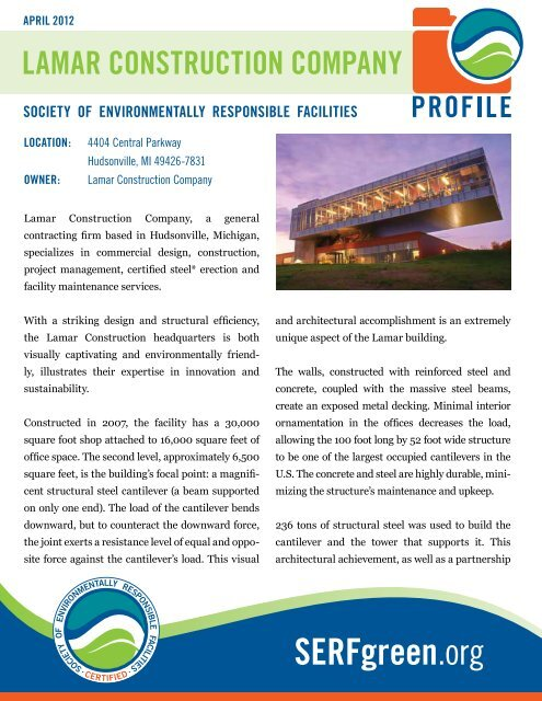 Download Lamar Construction Company Profile PDF - SERF